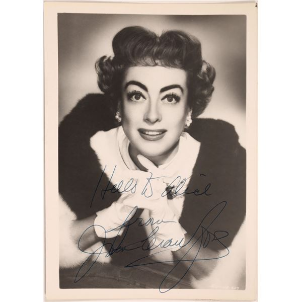 """Joan Crawford Autographed 5""""x 7"""" Inscribed Photo  [131727]"""