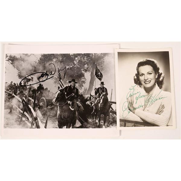 John Wayne & Maureen O'Hara Signed Photos  [131731]