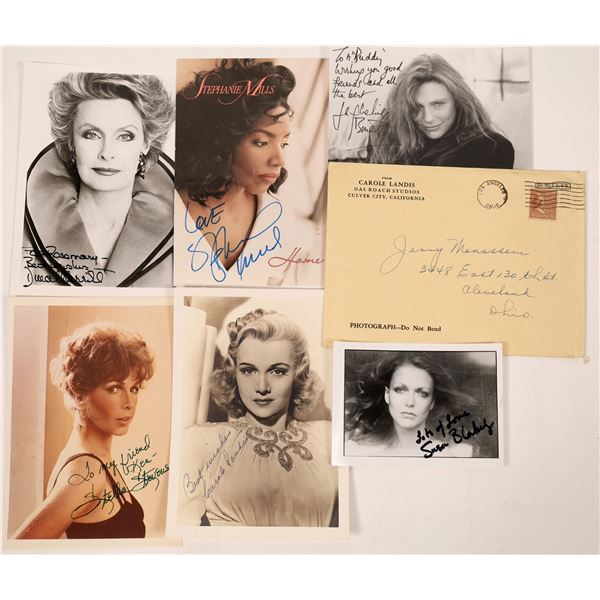 Ladies of Fame Inscribed & Signed Photos (6)  [127682]