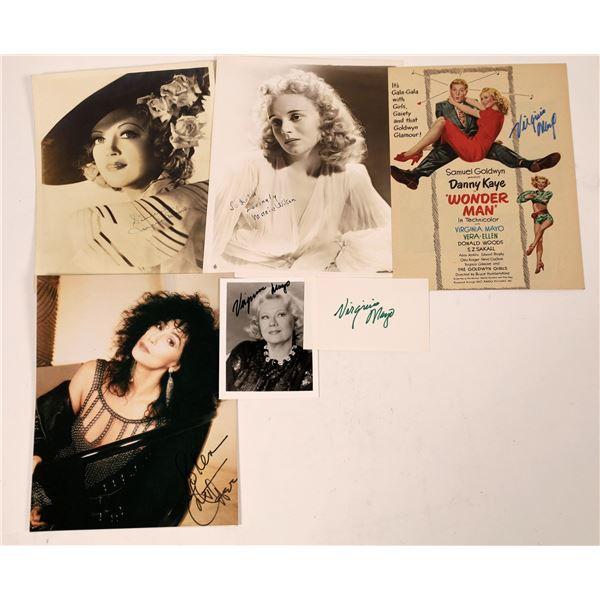 Hollywood Leading Ladies Autographs (4)  [127661]