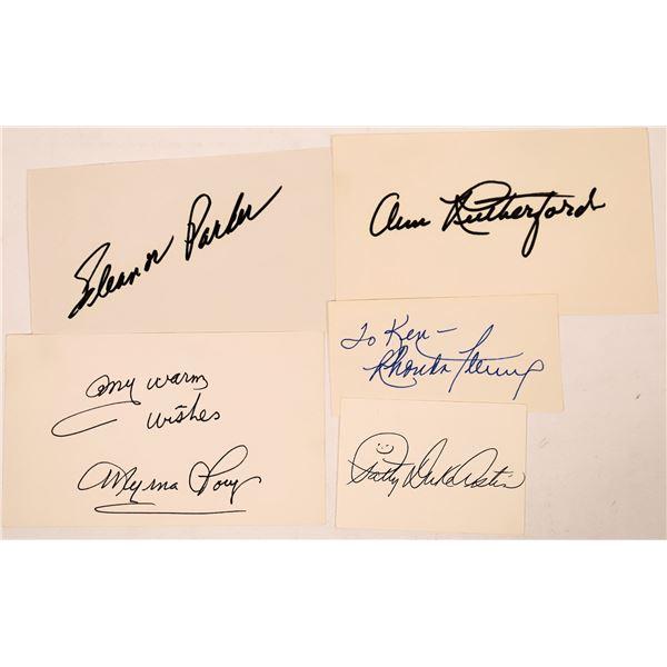 Leading Ladies Autograph Cuts (4)  [127663]