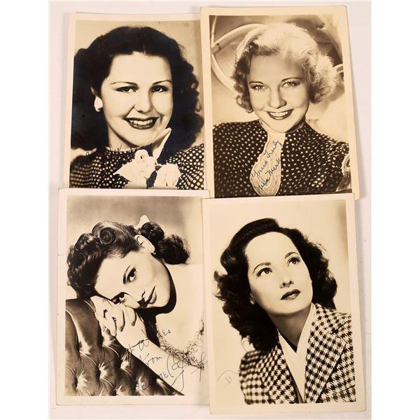 Leading Ladies Signed Photos (4)  [131732]