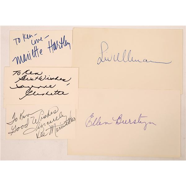 Some Leading Lady Autograph Cuts  [127662]