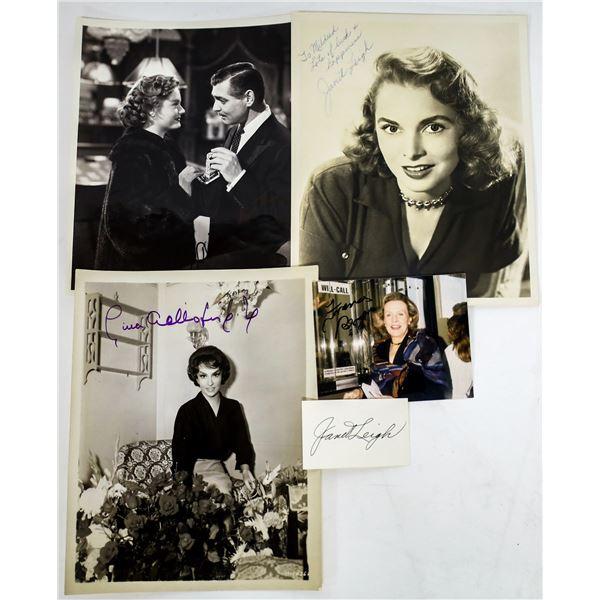 Three Leading Lady Autographed Photos (4)  [131646]