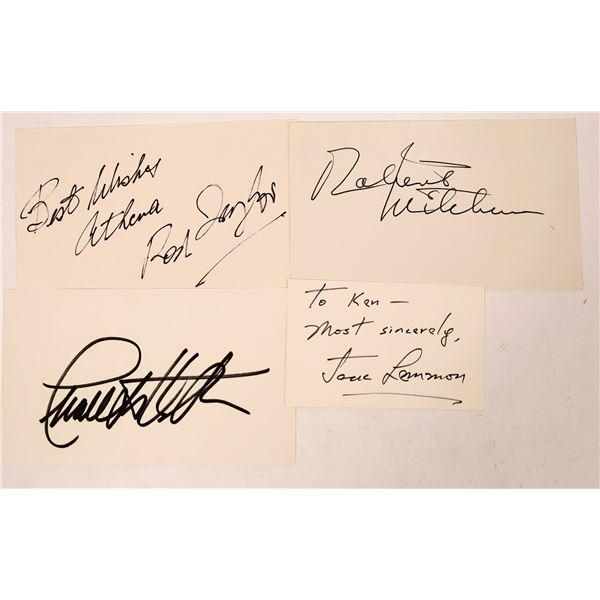 Leading Men Autograph Cuts & Cards   [127664]