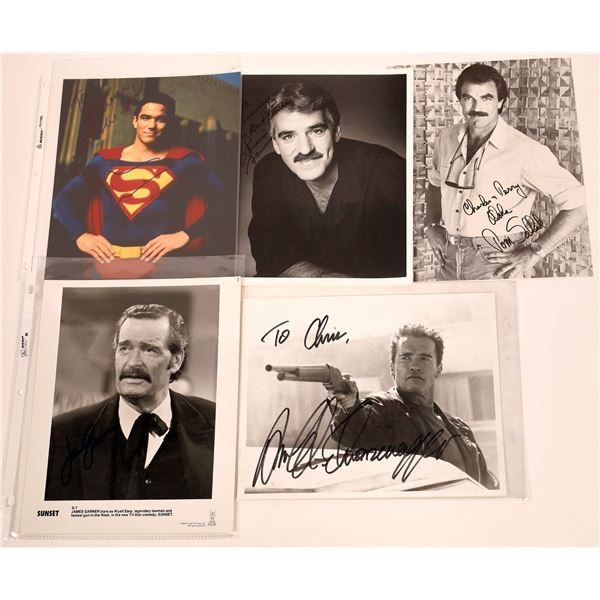 Leading Men Inscribed & Signed Photos (5)  [128965]