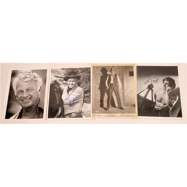 Leading Men of the 1950's & 60's Signed Photos (4)  [128966]