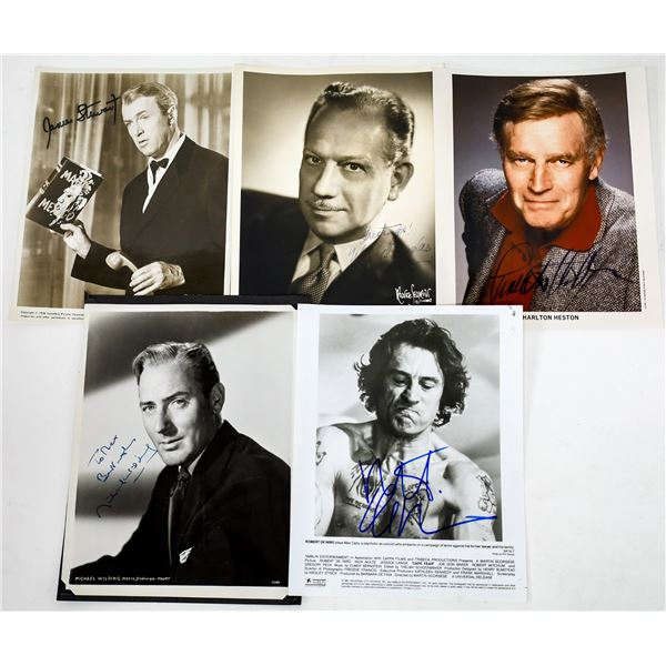 Leading Men Signed Photos (5)  [131647]