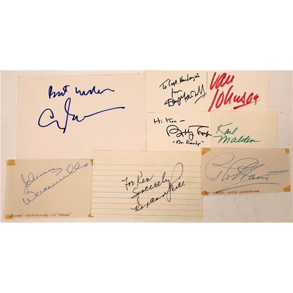 Some Leading Men Autograph Cuts (8)  [127669]