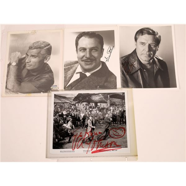 More Leading Men Inscribed & Signed Photos (4)  [128967]