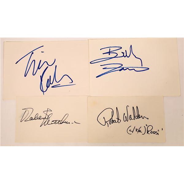 Movie Leading Men Autograph Cuts (5)  [127680]