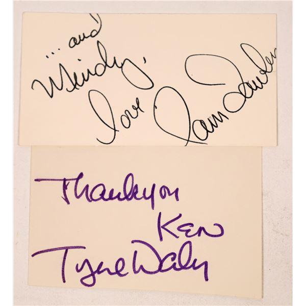 Pam Dawber & Tyne Daly Autograph Cuts  [131720]