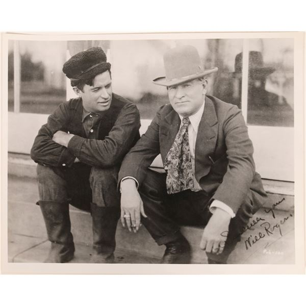 Photo of Will Rogers & Charles Russell, Signed by Rogers  [128200]