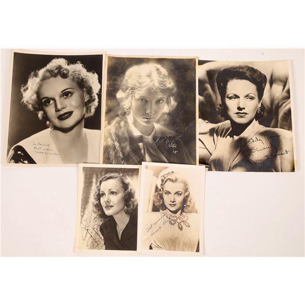 Silver Screen Actress Signed Photos (5)  [127674]