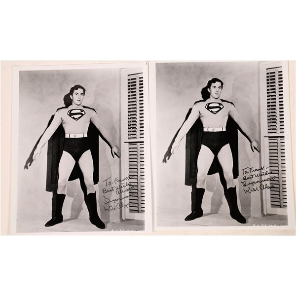 The First Superman, Kirk Alyn Signed Photos (2)  [127027]