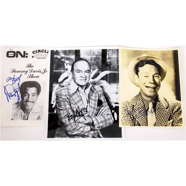 Three Entertainer Autographed Photos  [131648]