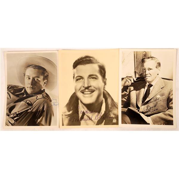 Trio of 1940's Actor Signed Photos (3)  [128181]