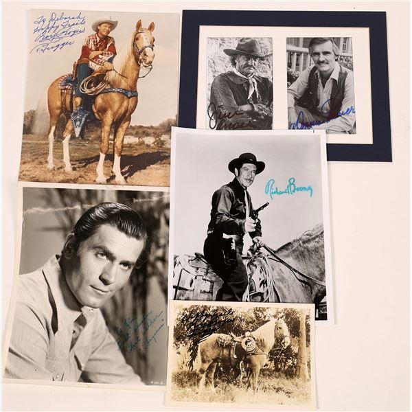 TV Cowboy Signed Photos (6)  [131733]