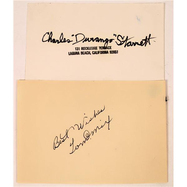 Western Stars Charles Starrett & Tom Mix Autograph  [131725]