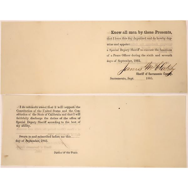 Sheriff James McClatchy Deputization Document  [138475]