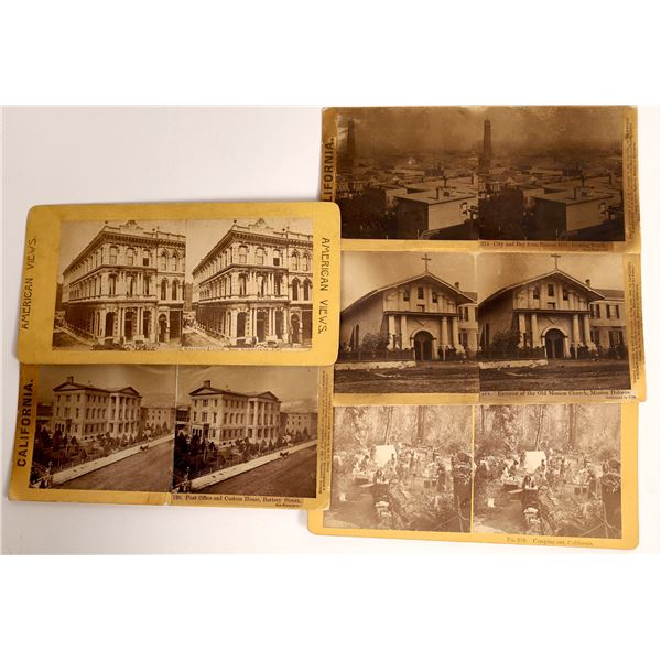 Early Stereo View Cards of San Francisco  [137891]