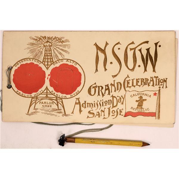 Native Sons of Golden West Admission Day Celebration Program  [137827]