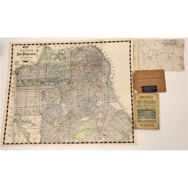 California Atlases & Maps (4)  [139298]