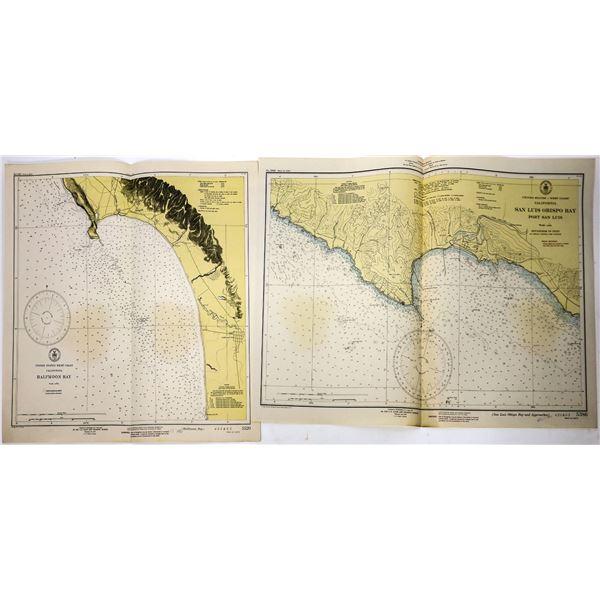 U.S. Dept. of Commerce Coast & Geodetic Survey Maps (5) for West Coast  [139421]