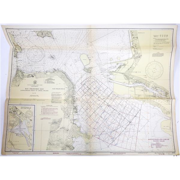 U.S. Dept. of Commerce Coast & Geodetic Survey Maps (6) for West Coast   [139422]