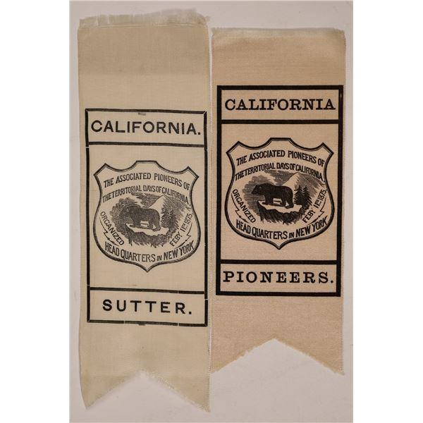 Associated Pioneers of Territorial Days of California Ribbons  [139304]