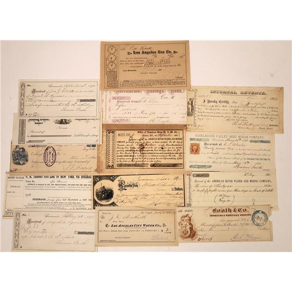 California Receipt Collection  [138474]