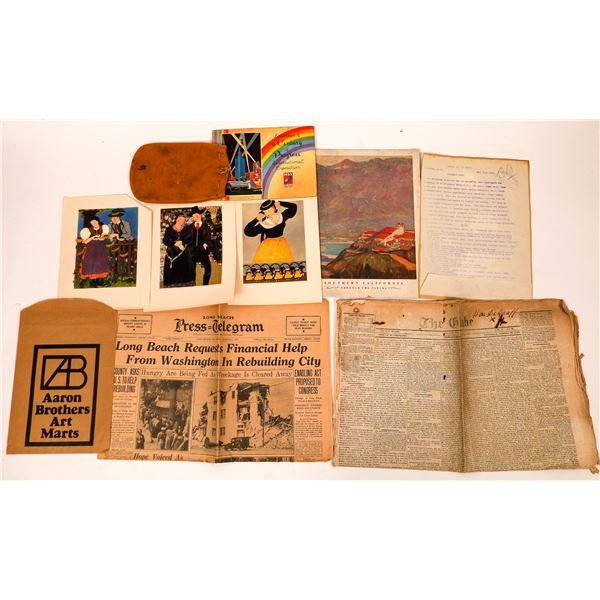 Grab Bag of California Ephemera  [138541]