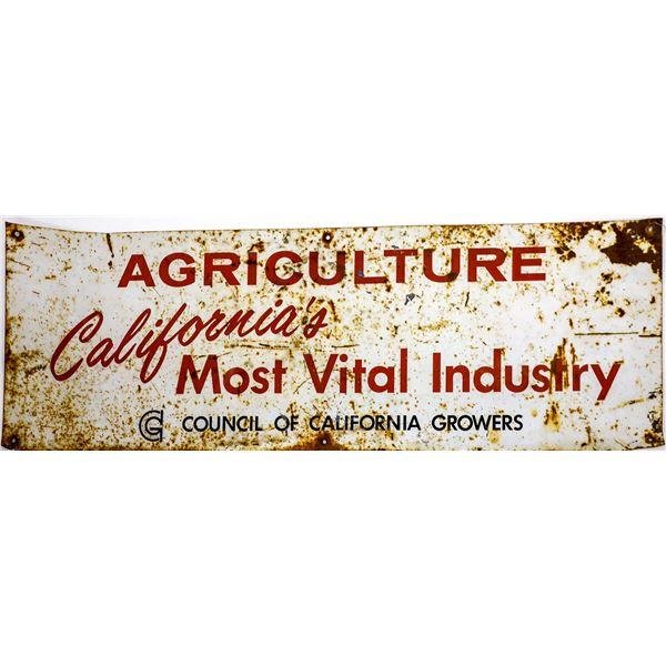 Vintage Metal California Agricultural Sign  [139378]