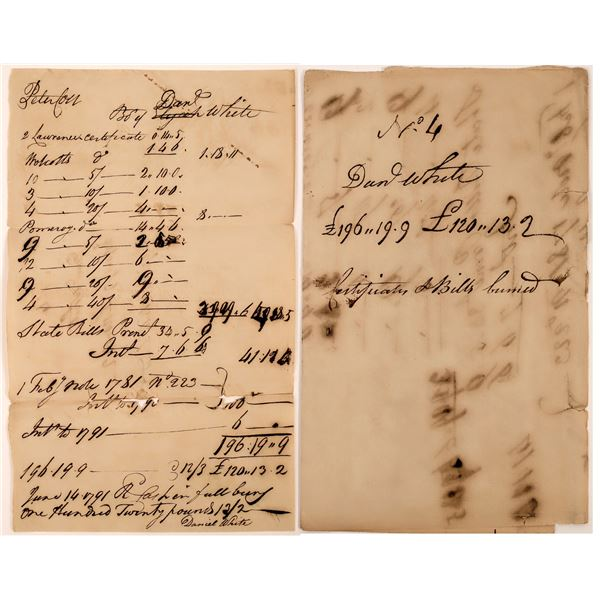 Connecticut (Militia?) bill for 120.13.2 Pounds on February 1, 1781  [130228]