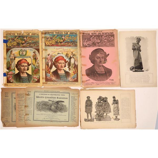 Columbian Exposition Ephemera (7)  [139288]