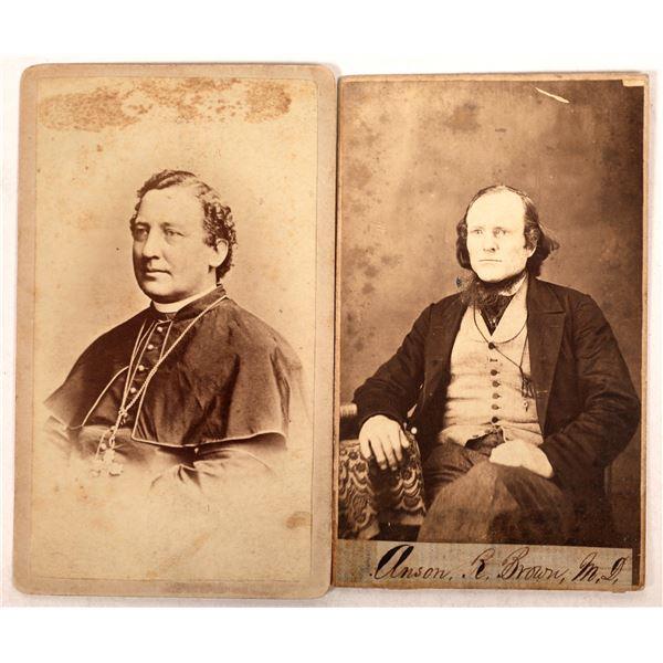 Chicago Archbishop & Michigan Physician Photos 1870's (2)  [129717]