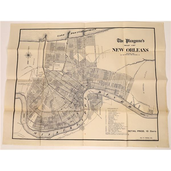 Map of New Orleans 1906  [138142]