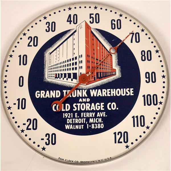 Advertising Thermometer for Grand Trunk Warehouse, Detroit.  [141127]