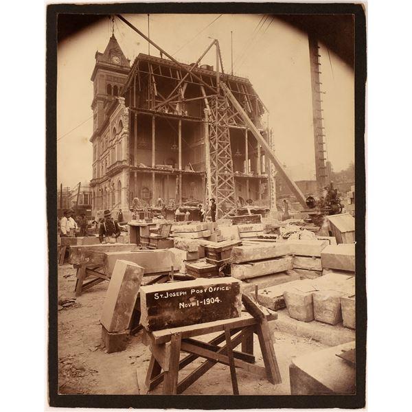 St. Joseph Post Office Construction Photograph  [139328]
