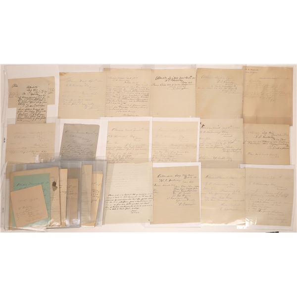 Allerdice Letter Correspondence Collection  [140881]