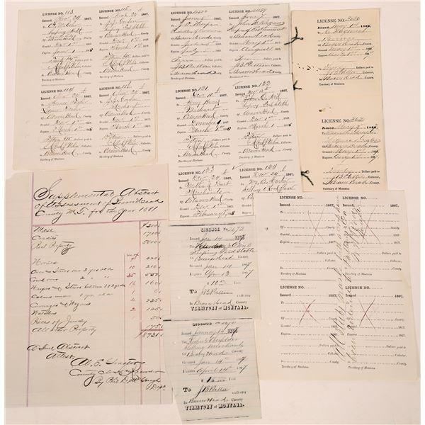 Beaverhead County Licenses 1860s  [140152]