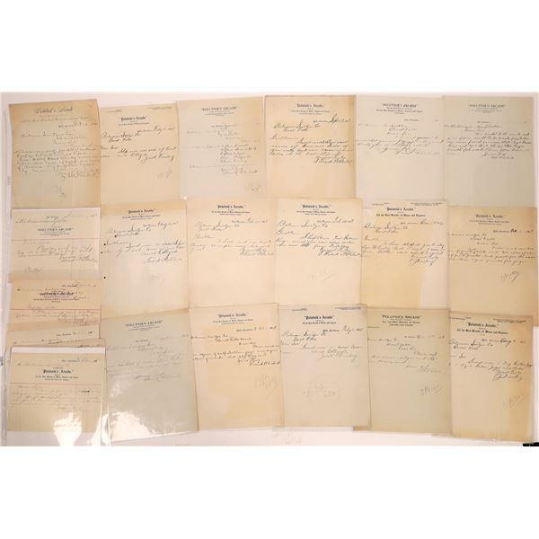 Polutnik's Arcade Letterheads (Approx. 24)  [140438]
