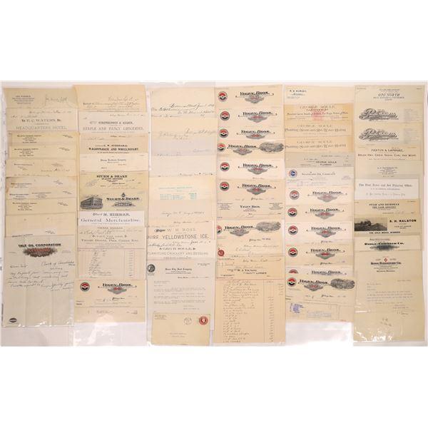 Billheads, Receipts & More from Billings (Approx. 110)  [128076]