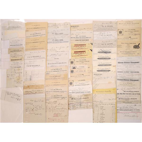 Bozeman Billheads & Letterheads (Approx. 100)  [128072]