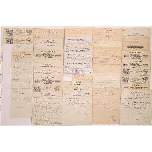 Bozeman Billheads & Letterheads (Approx. 100)  [128078]