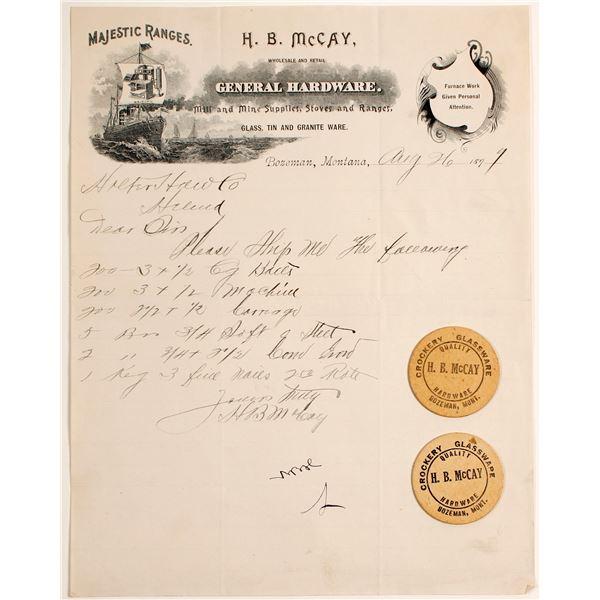H.B. McCay Pictorial Letterhead & Circular Business Cards  [138276]
