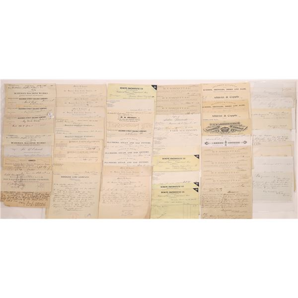 Letterheads & Billheads of Bozeman (Approx. 100)  [128074]
