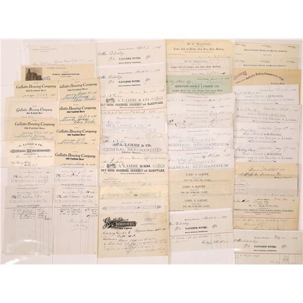 Several Bozeman Bill & Letterheads (Approx. 100)  [128073]