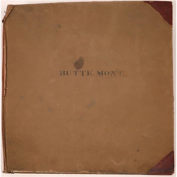 Butte 1916 Original Sanborn Insurance Map Book  [139805]