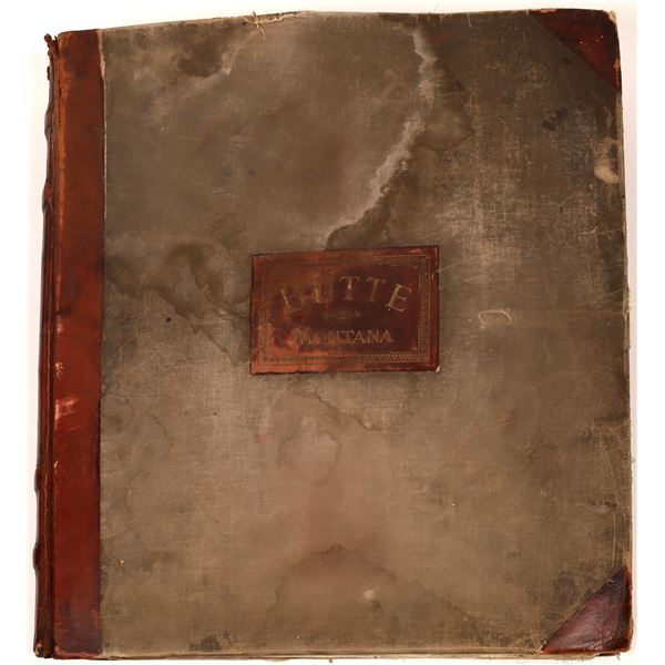 Butte 1916 Original Sanborn Insurance Map Book  [139804]